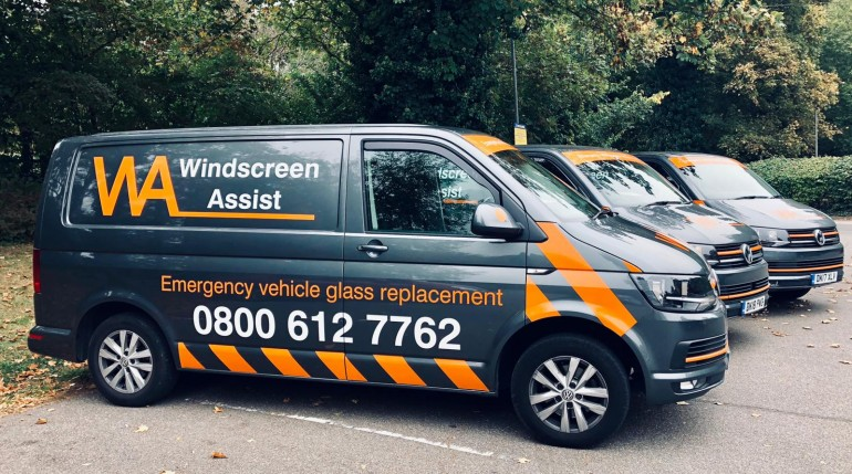 Windscreen assist van